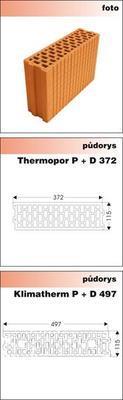 Cihla příčkovka P+D N11 - 115/497