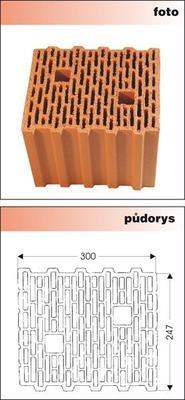 Cihla nebroušená P+D W-Plus 300 U=0,27 W/m2K