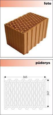 Cihla nebroušená P+D W-Plus 365 U=0,27 W/m2K