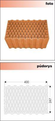 Cihla nebroušená P+D W-Plus 400 U=0,25 W/m2K