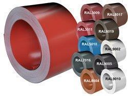 Tabulový plech 1250 x 2000 x 0,5mm v RAL jednostr. s fólií, Tabule 0,5x1250x2000 s folií RAL 9002