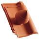 """Sanitární prostupová taška Ø 100 mm """"SIGNUM"""" s flex. připojovací hadicí včetně podstřešní průchodky, Přírodní červená - 1/2"""