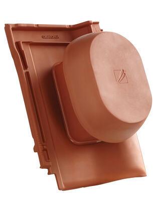 """Sanitární prostupová taška Ø  150/160 mm """"SIGNUM"""", včetně podstřešní průchodky, Přírodní červená - 1"""