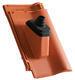 Anténní prostupová taška Ø 60 mm s pryžovou manžetou včetně podstřešní průchodky, Přírodní červená - 1/2