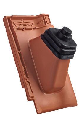 Anténní prostupová taška Ø 60 mm s pryžovou manžetou včetně podstřešní průchodky, Přírodní červená - 1