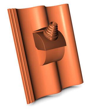 KMB HODONKA taška betonová anténní, ELEGANT cihlová - 1