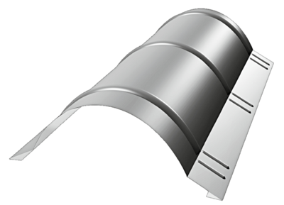 Hřebenáč kulatý 230x2000mm v RAL, Hřebenáč kulatý 230x2000mm v RAL 9005