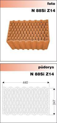 Cihla nebroušená P+D W-Plus 440 U=0,23 W/m2K