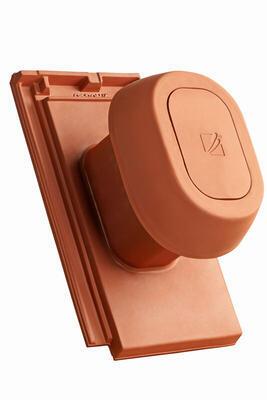 """Sanitární prostupová taška Ø 125 mm """"SIGNUM"""" s flex. připojovací hadicí včetně podstřešní průchodky, Přírodní červená - 1"""