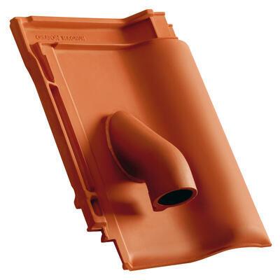 Solární prostupová taška Ø 70 mm, s pryžovou manžetou, včetně podstřešní průchodky, Přírodní červená - 1