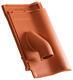 Solární prostupová taška Ø 70 mm včetně podstřešní průchodky, Přírodní červená - 1/2