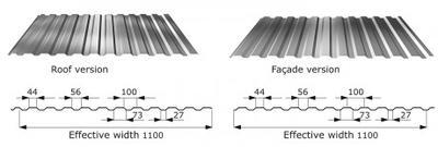 Trapézový profil T - 14 RAL tl.0,5mm, Trapézový profil T - 14  tl.0,5mm RAL 3011