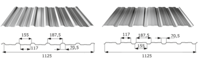 Trapézový profil T - 18 ECO FeZn tl.0,5mm
