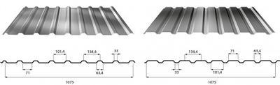 Trapézový profil T - 35 ECO RAL tl.0,5mm, Trapézový profil T - 35 ECO tl.0,5mm RAL 8017