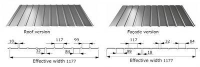 Trapézový profil T - 7 RAL tl.0,5mm
