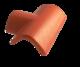 Hřebenáč rozdělovací T levý široký BETONPRES OPTIMAL, tmavohnědý široký levý - 1/3