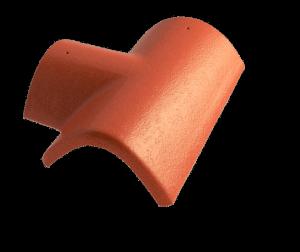 Hřebenáč rozdělovací T pravý široký BETONPRES OPTIMAL, červenohnědý široký pravý - 1