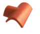Hřebenáč rozdělovací T levý úzký BETONPRES OPTIMAL, tmavohnědý úzký levý - 1/3
