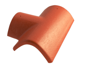 Hřebenáč rozdělovací T pravý úzký BETONPRES OPTIMAL, višňový úzký pravý - 1