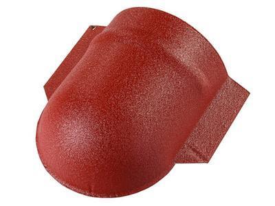 Střešní koncový hřebenáč kulatý v HERCULIT, Střešní koncový hřebenáč kulatý v HERCULIT 8004 cihlově červená