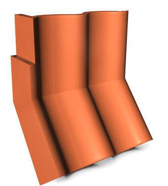 KMB HODONKA taška úžlabní okrajová levá, ELEGANT cihlová - 1