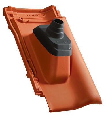 Anténní prostupová taška Ø 60 mm s pryžovou manžetou včetně podstřešní průchodky, NUANCE měděně červená engoba - 2