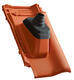 Anténní prostupová taška Ø 60 mm s pryžovou manžetou včetně podstřešní průchodky, NUANCE měděně červená engoba - 2/2