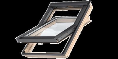 VELUX GLL 1061 / kyvné / dřevo s čirým lakem, GLL 1061 CK02 55x78 - 2