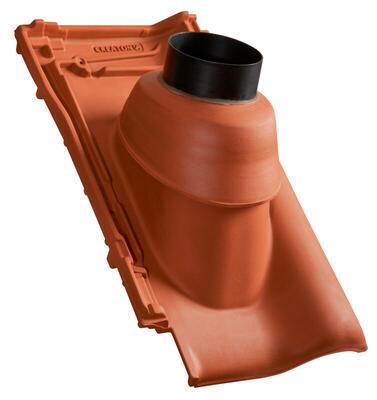 Prostupová taška pro odvod spalin Ø 125 mm včetně podstřešní průchodky, NUANCE měděně červená engoba - 2