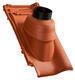 Prostupová taška pro odvod spalin Ø 125 mm včetně podstřešní průchodky, NUANCE měděně červená engoba - 2/2
