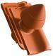 """Sanitární prostupová taška Ø 100 mm """"SIGNUM"""" s flex. připojovací hadicí včetně podstřešní průchodky, Přírodní červená - 2/2"""