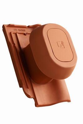 """Sanitární prostupová taška Ø 125 mm """"SIGNUM"""" s flex. připojovací hadicí včetně podstřešní průchodky, Přírodní červená - 2"""