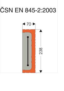 Keramické překlady nosné 70x238x1750 mm - 2