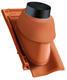 Prostupová taška pro odvod spalin Ø 125 včetně podstřešní průchodky, Přírodní červená - 2/2