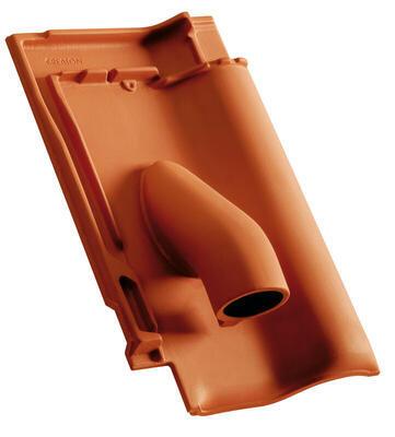 Solární prostupová taška Ø 70 mm včetně podstřešní průchodky, Přírodní červená - 2