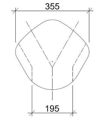 Hřebenáč rozdělovací Y BETONPRES OPTIMAL, višňová - 3