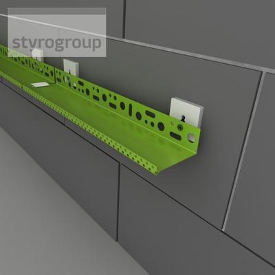 LOS - lišta obvodová 0,7 mm, LOS ALU 73 0,7/2000 - 4