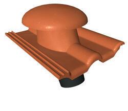 KMB BETA taška betonová odvětrávací - komplet, ELEGANT cihlová - 6